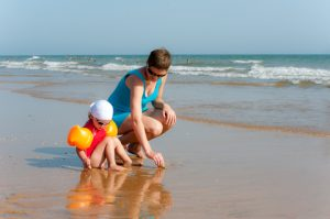 family-beach-activity