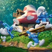 Clumsy (Jack McBrayer), Hefty (Joe Manganiello) and Brainy (Danny Pudi) in Columbia Pictures and Sony Pictures Animation's SMURFS: THE LOST VILLAGE.