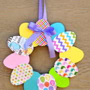 paper-plate-easter-wreath