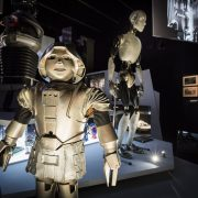 LONDON, ENGLAND - JUNE 01:  A general view of Into the Unknown: A Journey Through Science Fiction exhibition at Barbican Centre, 3 June-1 Sep 2017 on June 1, 2017 in London, United Kingdom.  (Photo by Tristan Fewings/Getty Images for Barbican Centre)