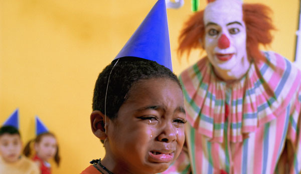 Clown-Scaring-Kid-at-Birthday-Party