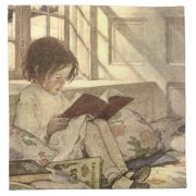 vintage_child_reading_a_book_jessie_willcox_smith_napkin-r762840de2af4483c8d21ec0097cda73e_2cfjc_8byvr_512