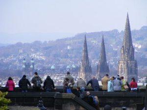 1_edinburgh castle - view to west