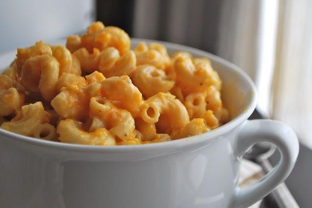 Μακαρόνια με τυρί και κολοκύθα