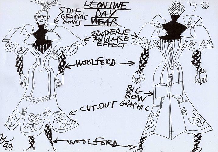 Σχέδια του Κριστιάν Λακρουά για τα κοστούμια της Σταχτοπούτας