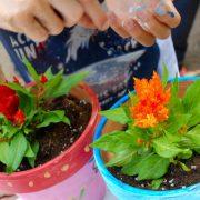 Μικροί κηπουροί με πινέλα_