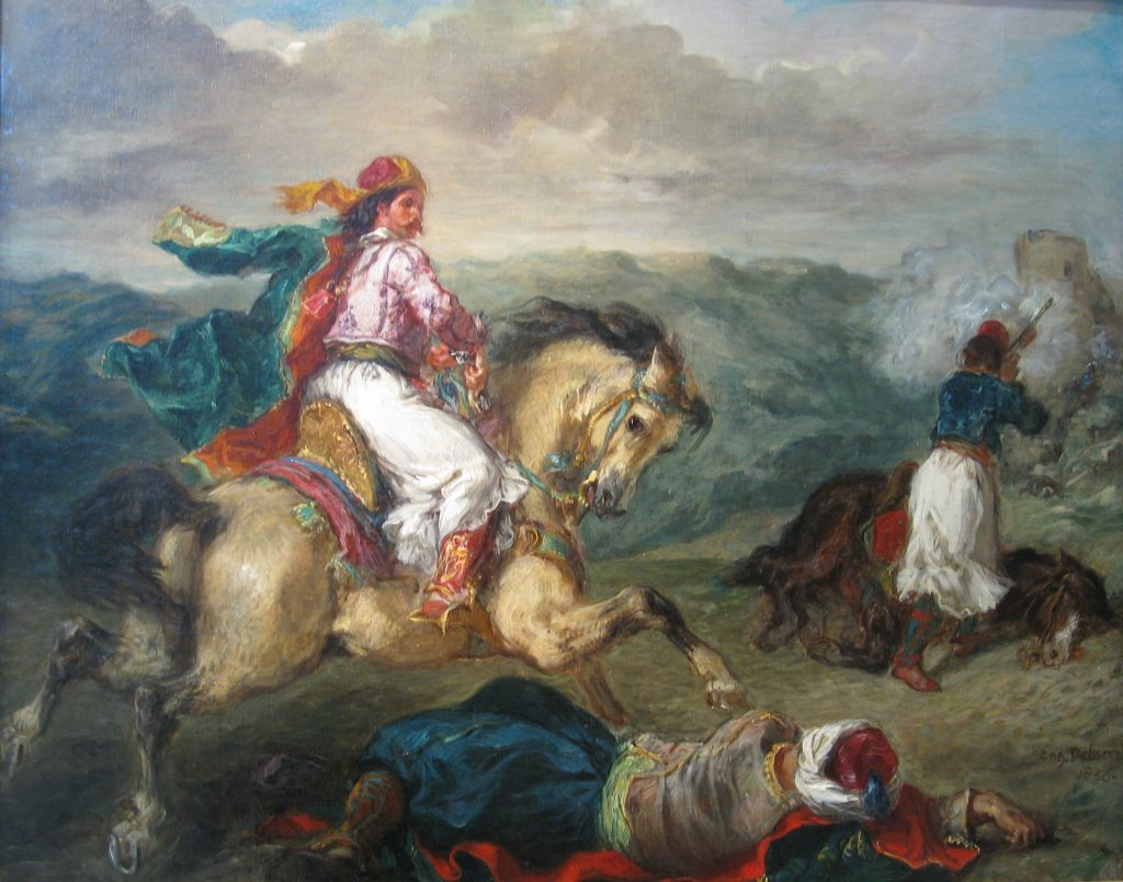 Mounted Greek Warrior(1856)-Eugene_Delacroix
