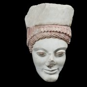 Η Κόρη με τον πόλο - Μάρμαρο Πεντέλης - Γύρω στο 500 π.Χ. - Ακρ. 696
