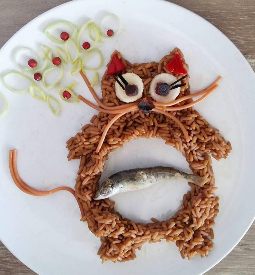 Γάτα-ρύζι με μαρίδα