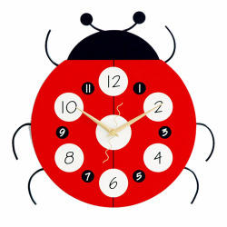 A1-Kids_Red_Ladybug_Wall_Clock_with_Silent_Movement_Arabic_Numeral_Makers_1