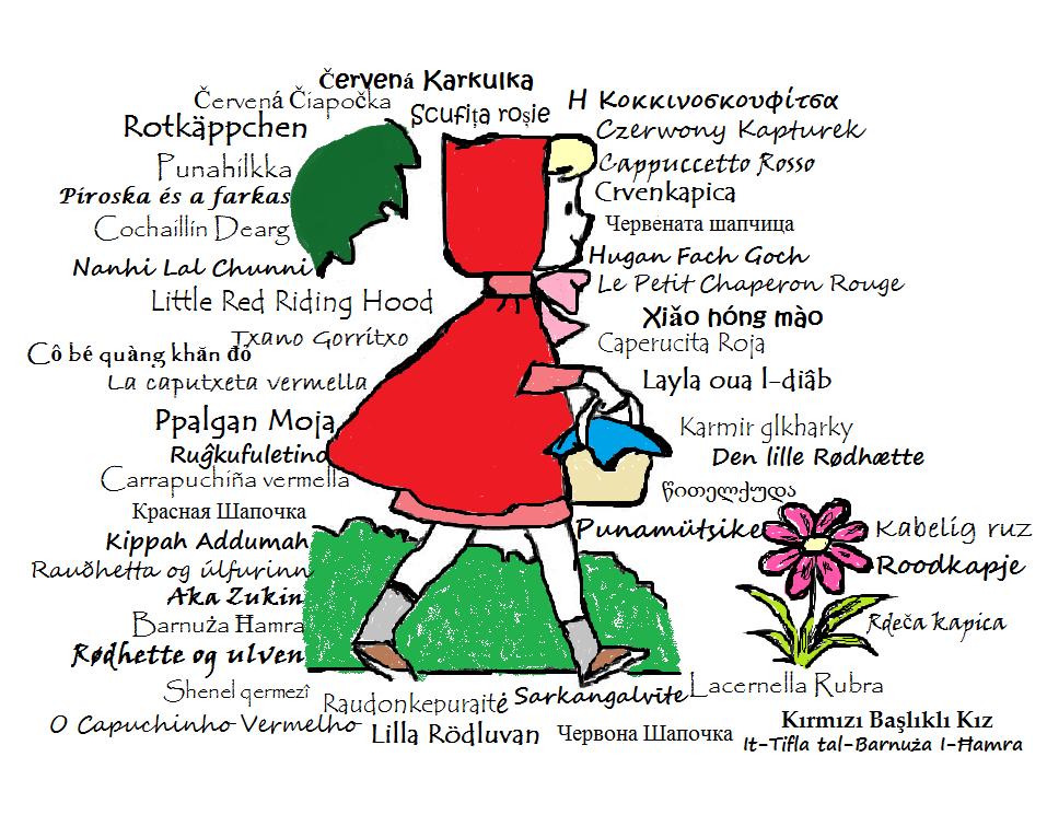 Η Κοκκινοσκουφίτσα σε όλες τις γλώσσες