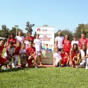 Η ομάδα σε πλήρη σύνθεση στην παρουσίαση του προγράμματος στον Εθνικό Γυμναστικό Σύλλογο.