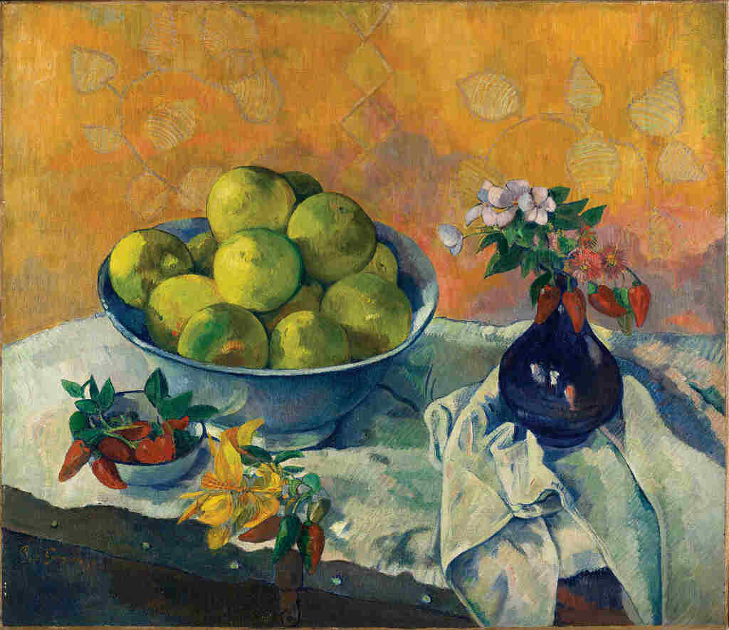 Paul Gauguin (1848-1903) Nature morte aux Pamplemousses Νεκρή φύση με γκρέιπ φρουτ Still Life with Grapefruits 1901 ή 1902 | 1901 or 1902 Λάδι σε καμβά | Oil on canvas 66 × 76.5 cm