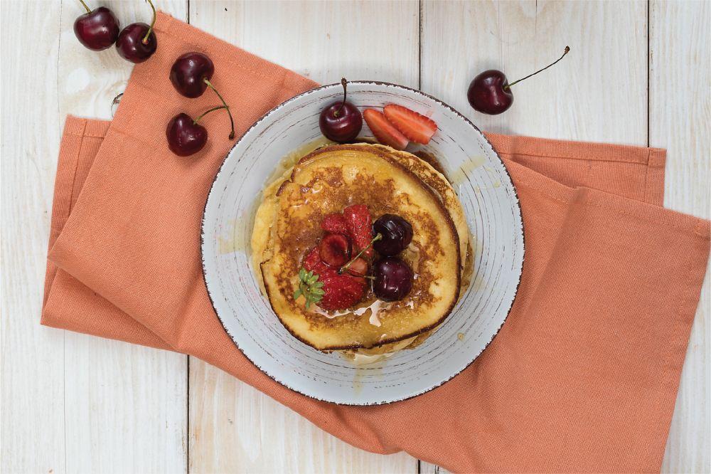 Pancakes με φρούτα