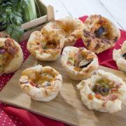 Pizza Muffins με λαχανικά