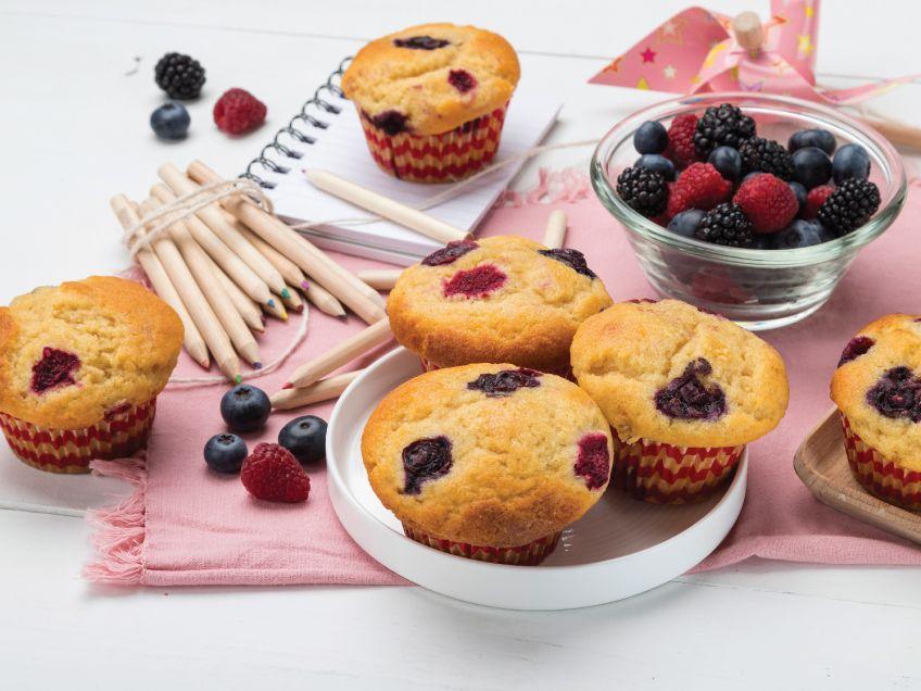 Muffins με φρούτα του δάσους