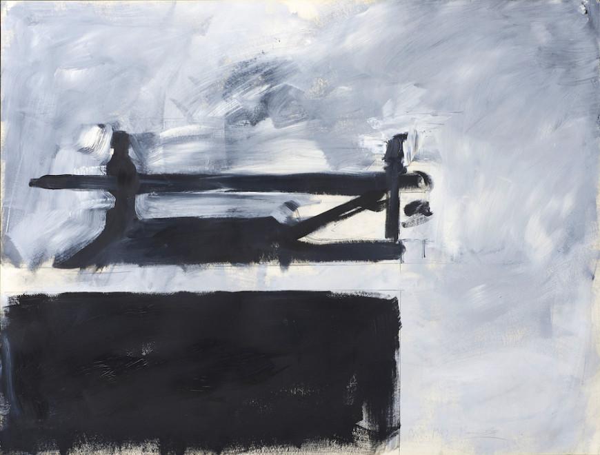 Γιάννης Κουνέλλης Untitled   Χωρίς τίτλο 1983 Λάδι σε χαρτί   98 × 128 cm