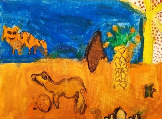 Χρήστος Τσαλδάρης (7 ετών), Η έρημος