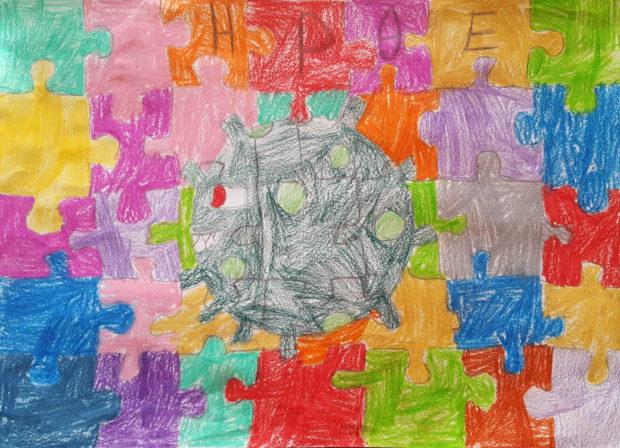 Ζωή Χατζηιωάννου (8 ετών), Ο ιός στον πλανήτη