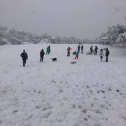 βόλτα στα χιόνια